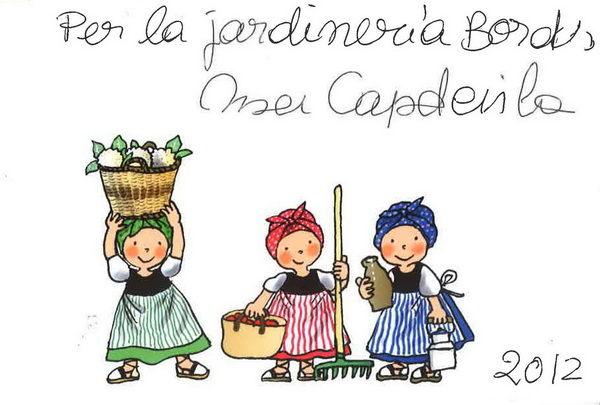 dedicatoria Roser capdevila a Bordas Jardineria